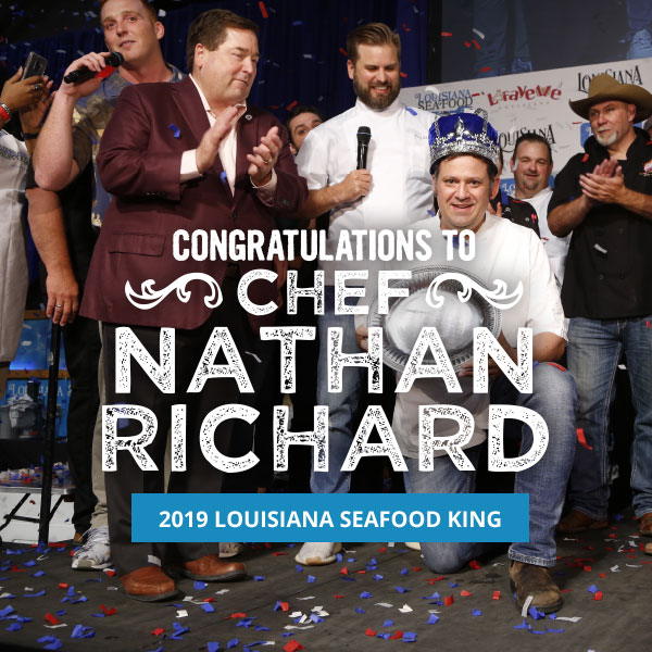 Congrats Chef Nathan Richard Lousiana Seafood King 2019