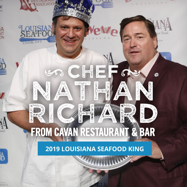 Chef Nathan Richard Lousiana Seafood King 2019