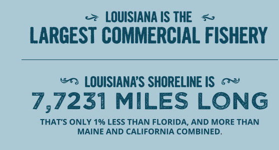 Louisiana is the largest commercial fishery